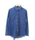 ラングラー WRANGLER 70's 27MW デニムシャツ ウエスタンシャツ ヴィンテージ 白タグ USA製 ブルー 16