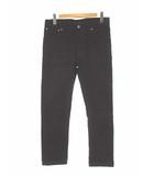 ヌーディージーンズ nudie jeans デニムパンツ スリム ストレッチ ブラック 黒 W32