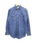 ラングラー WRANGLER 60's デニムシャツ ウエスタンシャツ 斜めベル イチゴボタン ブルー 16-33