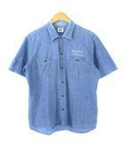 スタンダード カリフォルニア STANDARD CALIFORNIA STURDY シャンブレーシャツ ワークシャツ 半袖 ブルー