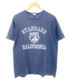 スタンダード カリフォルニア STANDARD CALIFORNIA Tシャツ 半袖 カットソー トップス プリント 日本製 ネイビー L