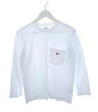 ダントン DANTON ポケット付き ロング Tシャツ JD-9077 白 ホワイト 34