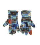 パタゴニア Patagonia フリースグローブ 手袋 総柄 USA製 ブルー L