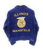 ヴィンテージ VINTAGE 60's FFA ファーマーズジャケット ILLINOIS コーデュロイ TALONジップ 刺繍 ナス紺