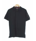 アルファ ALPHA ポロシャツ 半袖 ミリタリー ブラック 黒 M