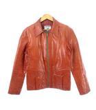 ヴィンテージ VINTAGE 70's イーストウエスト EAST WEST レザー ジャケット オリジナル ヒッピー USA製 ブラウン 40