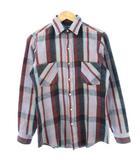 ヴィンテージ VINTAGE 80's ディーシー Dee Cee ヘビーネルシャツ USA製 チェック グレー レッド S