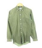 ヴィンテージ VINTAGE 60's Shapely ボタンダウンシャツ 総柄 グリーン系 S