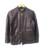 ヴィンテージ VINTAGE 60's Passaic Leather Coat シングル ライダースジャケット レザー ライナー付き ダークブラウン size8
