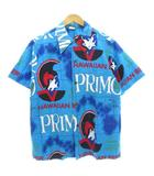 ヴィンテージ VINTAGE 70's ハワイアンホリデー HAWAIIAN HOLIDAY アロハシャツ PRIMO ビール 総柄 ハワイ製 ブルー