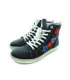 ビルケンシュトック BIRKENSTOCK バートレット BARTLETT ハイカット スニーカー 靴 花柄 刺繍 ナチュラルレザー ブラック 38