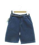 ユニクロ UNIQLO キッズ ドライデニムイージーショーツ ハーフパンツ ボトムス 子供服 ブルー 110cm