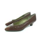 レノマ renoma パンプス ローヒール レザー 靴 ブラウン 35