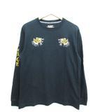 エクストララージ X-LARGE スーベニア ロンT Tシャツ 長袖 トップス 虎 刺繍 ブラック M
