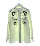 ヴィンテージ VINTAGE 70's エイチバーシー H BAR C ウエスタンシャツ フラワー 刺繍 ロカビリー オフホワイト