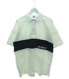 半袖 ラガーシャツ トップス オーバーサイズ ホワイト L