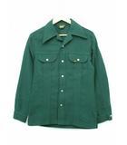 リー LEE 70's シャツジャケット USA製 三角タグ ビンテージ  グリーン S