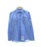 ヴィンテージ VINTAGE 90's DSCP 米軍 USN ユーティリティシャツ ワークシャツ ブルー M 34SL