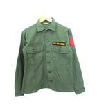 ヴィンテージ VINTAGE 70's 米軍 US ARMY ユーティリティシャツ コットンサテン オリジナル ミリタリー オリーブ 14 1/2
