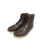 グレンソン GRENSON ウィングチップ ブーツ カントリーブーツ 5068 レザー ビブラムソール ダークブラウン 8