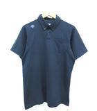 デサント DESCENTE ボタンダウン ポロシャツ 半袖 トップス 刺繍 ロゴ ネイビー O