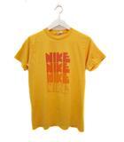 ナイキ NIKE 70's Tシャツ 4連ゴツナイキ USA製 ヴィンテージ 半袖 イエロー M