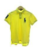 ポロシャツ 半袖 トップス ビッグポニー イエロー M