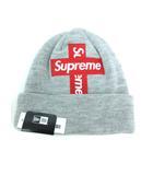 ニューエラ NEW ERA シュプリーム SUPREME Cross Box Logo Beanie クロス ボックス ロゴ ビーニー ニットキャップ 帽子 ヘザーグレー Free ☆AA★