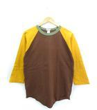 ワラワラスポーツ WALLA WALLA SPORT ラグラン Tシャツ 七分袖 トップス USA製 ブラウン M