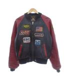 バンソン VANSON TJP ライダースジャケット レザージャケット ワッペン ブラック レッド USA製 38