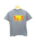 90's Tシャツ 紺タグ USA製 ラジカセ プリント オールド グレー S