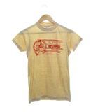 80's Tシャツ USA製 TURKEY プリント ヴィンテージ ベージュ S 34-36