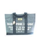 ベビーピンクハウス BABY PINK HOUSE デニム ヒッコリー トートバッグ 手提げ かばん 濃紺