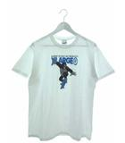 Tシャツ 半袖 カットソー スケボー プリント トップス ホワイト M