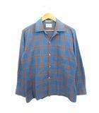 ヴィンテージ VINTAGE 60's 70's アロー ARROW King cotton オープンカラーシャツ 開襟シャツ チェック USA製 M