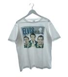 80's エルヴィス プレスリー ELVIS Tシャツ USA製 1988 ANDY'S Tee shirts 両面プリント ホワイト L