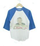 ヴィンテージ VINTAGE ケニーロジャース KENNY ROGERS 80's 1984ツアーTシャツ ラグランスリーブ 7部袖 USA製 ホワイト ブルー M