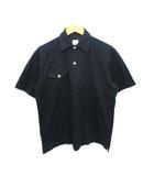 ポロシャツ 黒 ブラック M