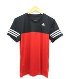 アディダス adidas トレーニング Tシャツ 半袖 サッカー トップス レッド L
