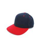 ニューエラ NEW ERA 90's~ キャップ USA製 6パネル 帽子 ネイビー レッド 7 3/4