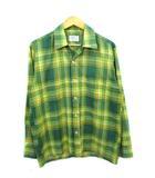 60's 70's ブレント BRENT オープンカラーシャツ 開襟シャツ チェック柄 ボックス型 日本製 モンゴメリーワード M