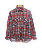 リーバイス Levi's 70's USA製 ネルシャツ チェック 長袖 ヴィンテージ レッド L