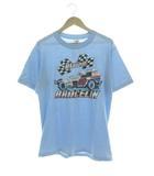 ジャージーズ JERZEES 80's Tシャツ BRACELIN 両面プリント USA製 ブルー L