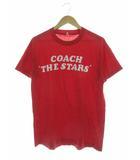 ヴィンテージ VINTAGE スクリーンスターズ SCREEN STARS 70's 80's Tシャツ 半袖 COACH THE STARS フロッキープリント レッド XL