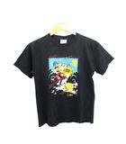 90's M&M's Tシャツ オフィシャル キャラクター プリント USA製 ブラック ボーイズ L 14-16