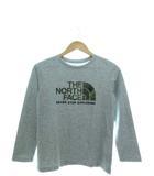 ザノースフェイス THE NORTH FACE キッズ ロングスリーブカモロゴティー Tシャツ 長袖 アウトドア 子供服 グレー 150cm