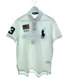 ポロ バイ ラルフローレン Polo by Ralph Lauren ポロシャツ 半袖 トップス ビッグポニー ワッペン 刺繍 ホワイト L