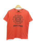 ステューシー STUSSY プリント Tシャツ 半袖 カットソー トップス オレンジ M