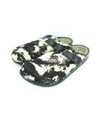 ビルケンシュトック BIRKENSTOCK footprints アントワープ サボ ハラコ レザー サンダル ブラック 28.5cm