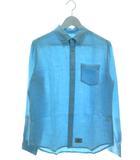 チャオパニック ティピー CIAOPANIC TYPY リネン ボタンダウンシャツ 長袖 トップス ライトブルー S